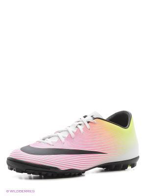 Шиповки MERCURIAL VICTORY V TF Nike. Цвет: салатовый, розовый
