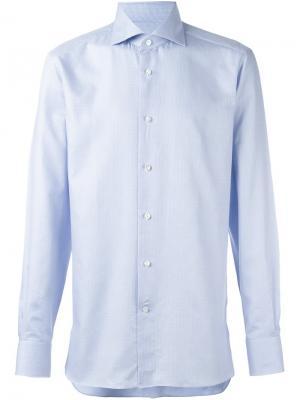 Классическая рубашка Ermenegildo Zegna. Цвет: синий