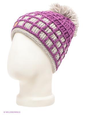 Шапка R.Mountain. Цвет: фиолетовый, светло-серый