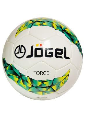 Мяч футбольный Jogel JS-450 Force №4. Цвет: зеленый, желтый, черный