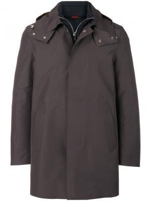 Многослойная куртка с капюшоном Kired. Цвет: телесный