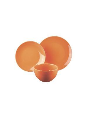Набор столовый 6/18 Коралл. Цвет: оранжевый