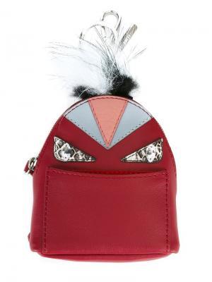 Брелок в форме рюкзака Bag Bugs Fendi. Цвет: красный