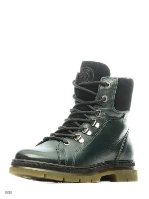 Ботинки GUT. Цвет: зеленый