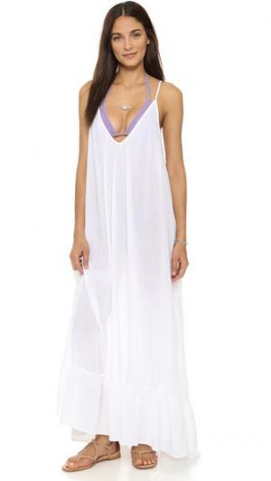 Пляжное платье Paloma 9seed. Цвет: голубой