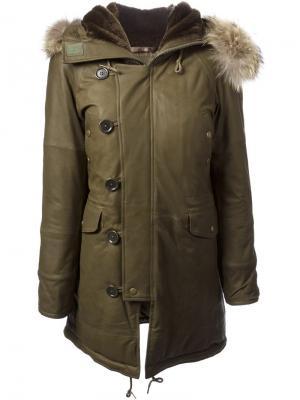 Пальто Raw +. Цвет: зелёный