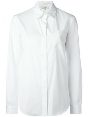 Рубашка с потайной застежкой Isa Arfen. Цвет: белый