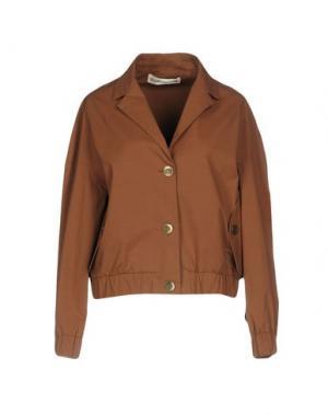 Куртка NINEMINUTES. Цвет: коричневый