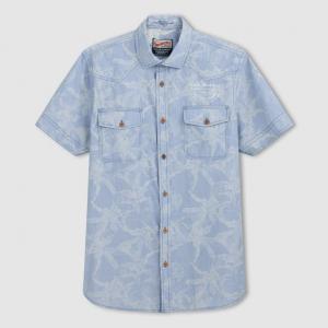 Рубашка с рисунком короткими рукавами PETROL INDUSTRIES. Цвет: кобальтовый синий