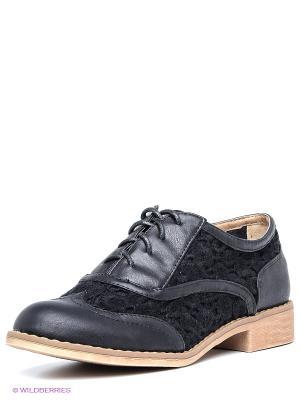 Туфли XTI. Цвет: черный