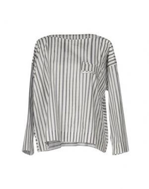 Блузка TOOGOOD. Цвет: темно-синий