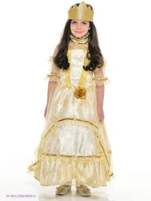 Карнавальный костюм Золушка-Принцесса золотая Батик. Цвет: золотистый