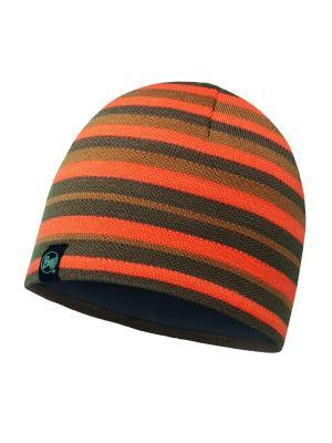 Шапка BUFF 2016-17 KNITTED & POLAR HAT LAKISTRIPES FOSSIL-FOSSIL-Standard. Цвет: оранжевый