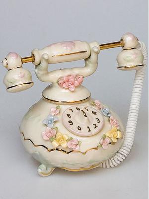 Фигурка Телефон Pavone. Цвет: золотистый (осн.), розовый