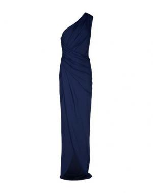 Длинное платье MICHAEL KORS COLLECTION. Цвет: темно-синий