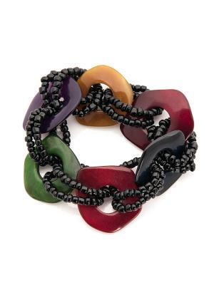 Браслет Fine Laguna. Цвет: черный, зеленый, фиолетовый, красный, оранжевый