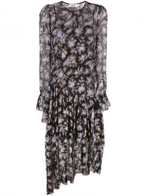 Платье-шифт с цветочным принтом Zimmermann. Цвет: чёрный