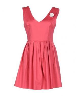 Короткое платье PLEASE. Цвет: коралловый