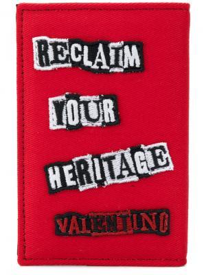 Кошелек с заплатками Джейми Рейда  Garavani Valentino. Цвет: красный