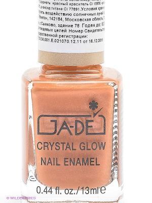 Лак для ногтей Crystal glow nail enamel, тон 410 GA-DE. Цвет: коричневый