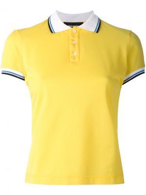 Футболка-поло с полосатой окантовкой Dsquared2. Цвет: жёлтый и оранжевый