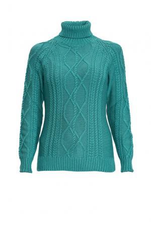 Джемпер из шерсти с шелком 136700 Sweet Sweaters. Цвет: зеленый