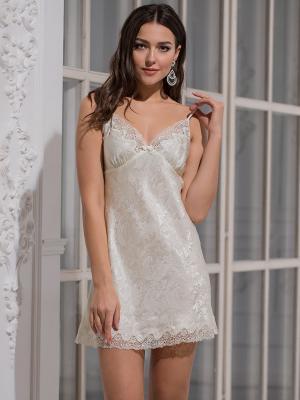 Ночная сорочка MIA-AMORE. Цвет: молочный, белый