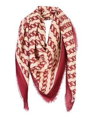 Платок MARC JACOBS. Цвет: красно-коричневый