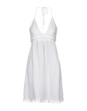 Короткое платье GIORGIA & JOHNS. Цвет: белый