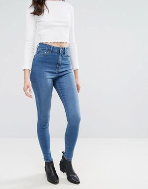 Waven Облегающие джинсы с завышенной талией Anika. Цвет: синий