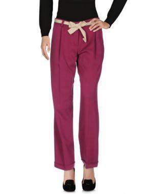 Повседневные брюки DIXIE. Цвет: пурпурный