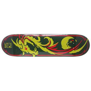 Дека для скейтборда  Dragon Green 31 x 7.625 (19.4 см) Blast. Цвет: зеленый,желтый