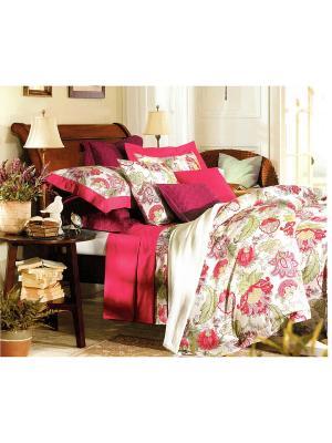 Комплект постельного белья, 1,5 спальный Sofi de Marko. Цвет: красный, зеленый