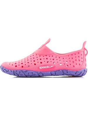 Аквасоки Speedo. Цвет: розовый, фиолетовый