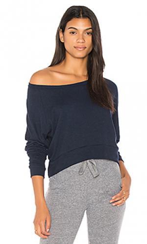 Укороченный свитер с длинным рукавом Nation LTD. Цвет: синий