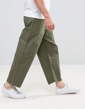 Dr Denim Широкие зеленые джинсы Melvin. Цвет: зеленый