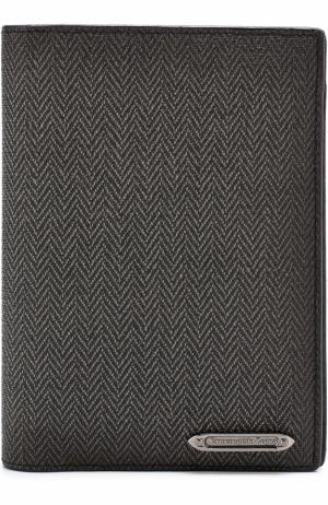 Обложка для паспорта Ermenegildo Zegna. Цвет: темно-серый