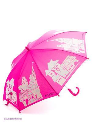 Зонт Flioraj. Цвет: розовый