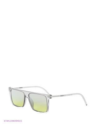 Солнцезащитные очки MARC JACOBS. Цвет: серый, салатовый