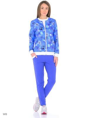 Костюм-куртка, брюки NAGOTEX. Цвет: голубой