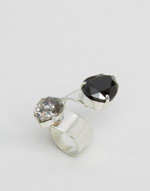 Krystal Кольцо с кристаллом Swarovski. Цвет: черный