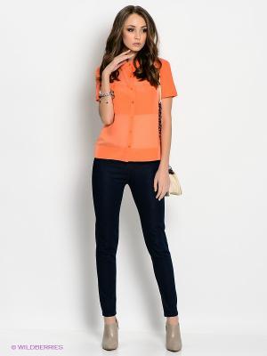 Блузка People. Цвет: оранжевый