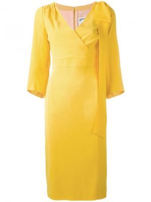 Вечернее платье с бантом сбоку Dsquared2. Цвет: жёлтый и оранжевый