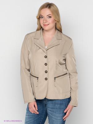 Куртка WEGA. Цвет: бежевый