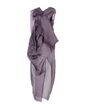 Длинное платье RICK OWENS. Цвет: фиолетовый