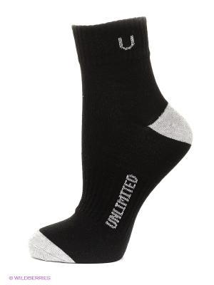 Носки спортивные, 5 пар Unlimited. Цвет: черный, серый