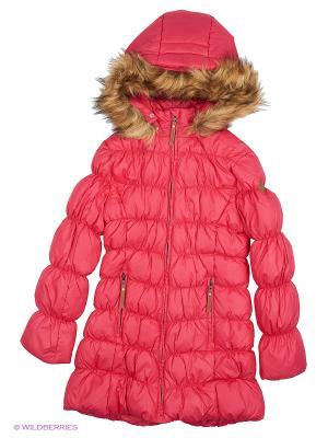 Пальто Luhta. Цвет: розовый, красный, коралловый