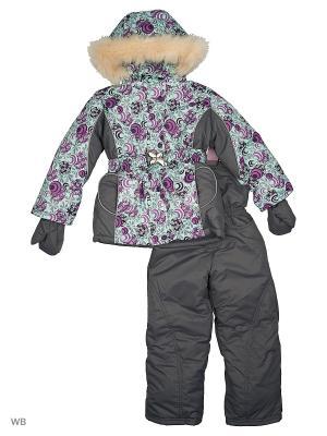 Комплект для девочки Little Boy. Цвет: бирюзовый, серый, сиреневый
