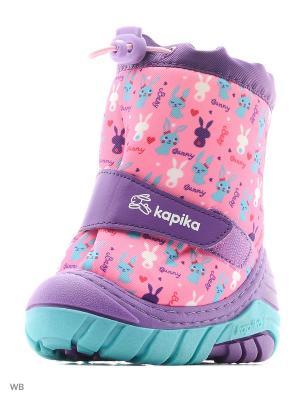 Полусапожки Kapika. Цвет: фиолетовый, розовый