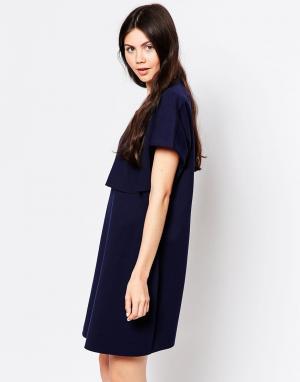 By Zoe Свободное платье-футболка. Цвет: темно-синий